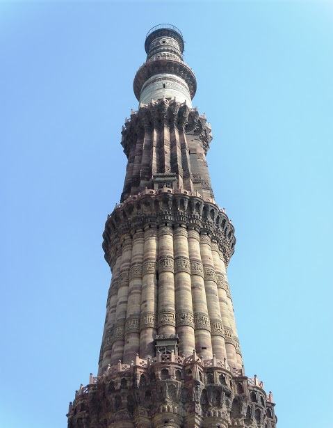 The top two floors of the Minar, covered with marble.