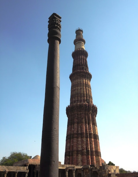 The Iron Pillar and the Qutub Minar