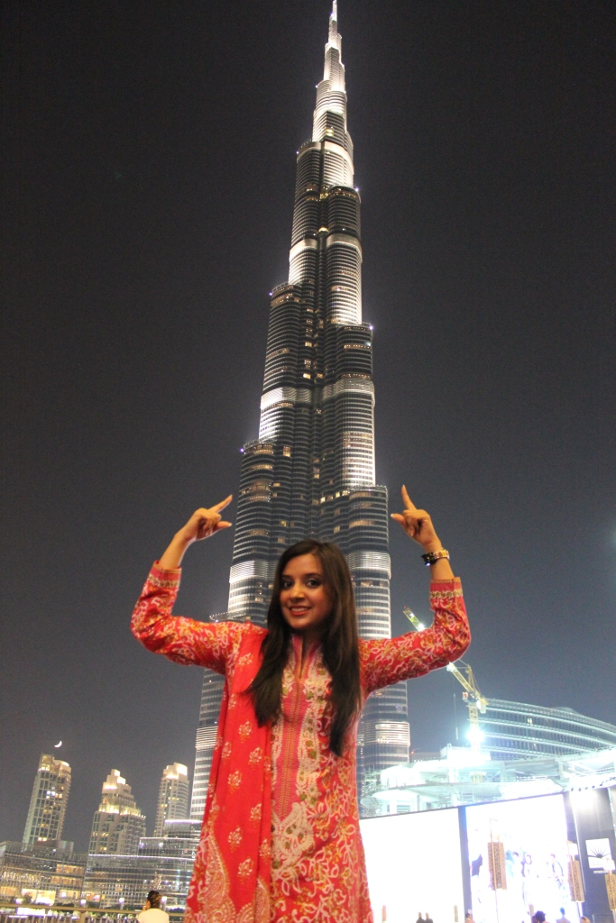 But you are still standing behind me, Burj Khalifa :P